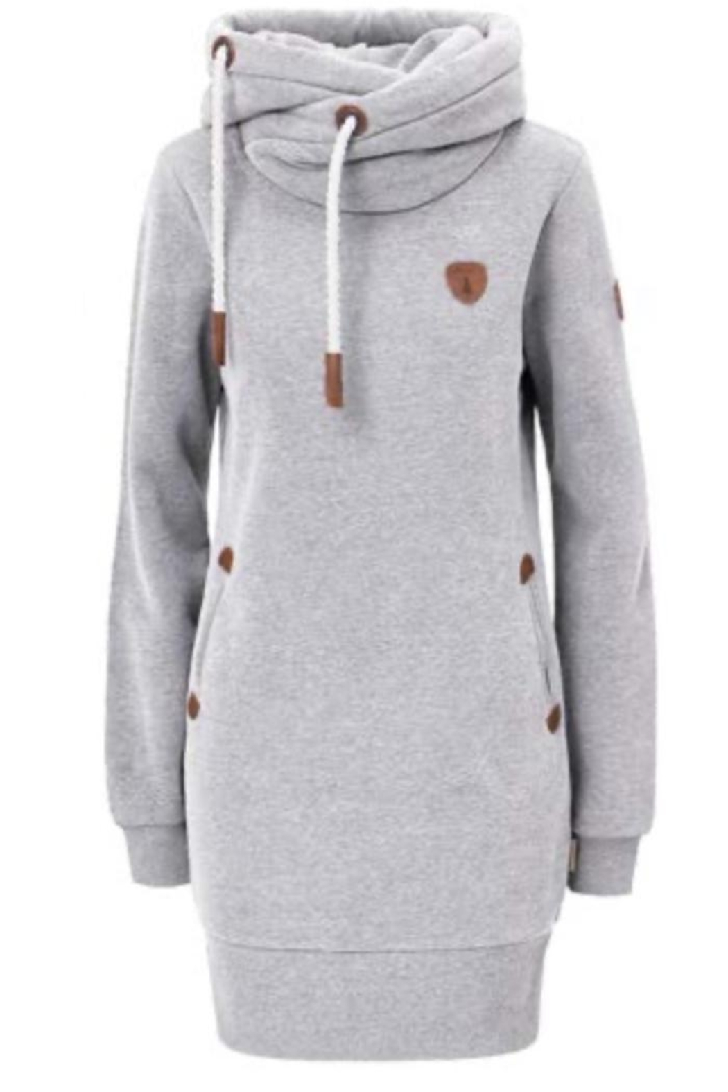 Wanakome Juno Hoodie Dress - Front Cropped Image