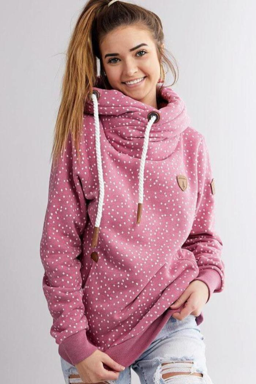 Wanakome Artemis Mini Dot Hoodie - Front Cropped Image