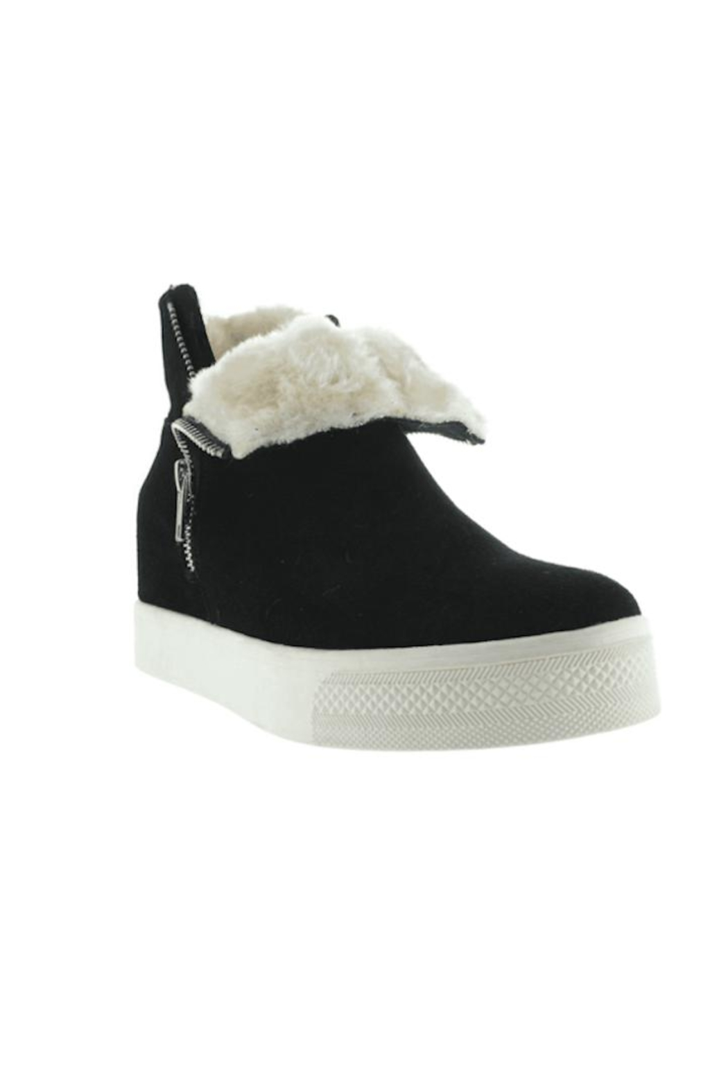 Steve Madden Wanda Suede Sneakers - Side Cropped Image