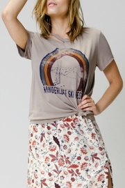 Wanderlust Ski Resort Distressed Tee - Product Mini Image