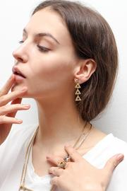 Wanderluster Canna Earrings - Front cropped