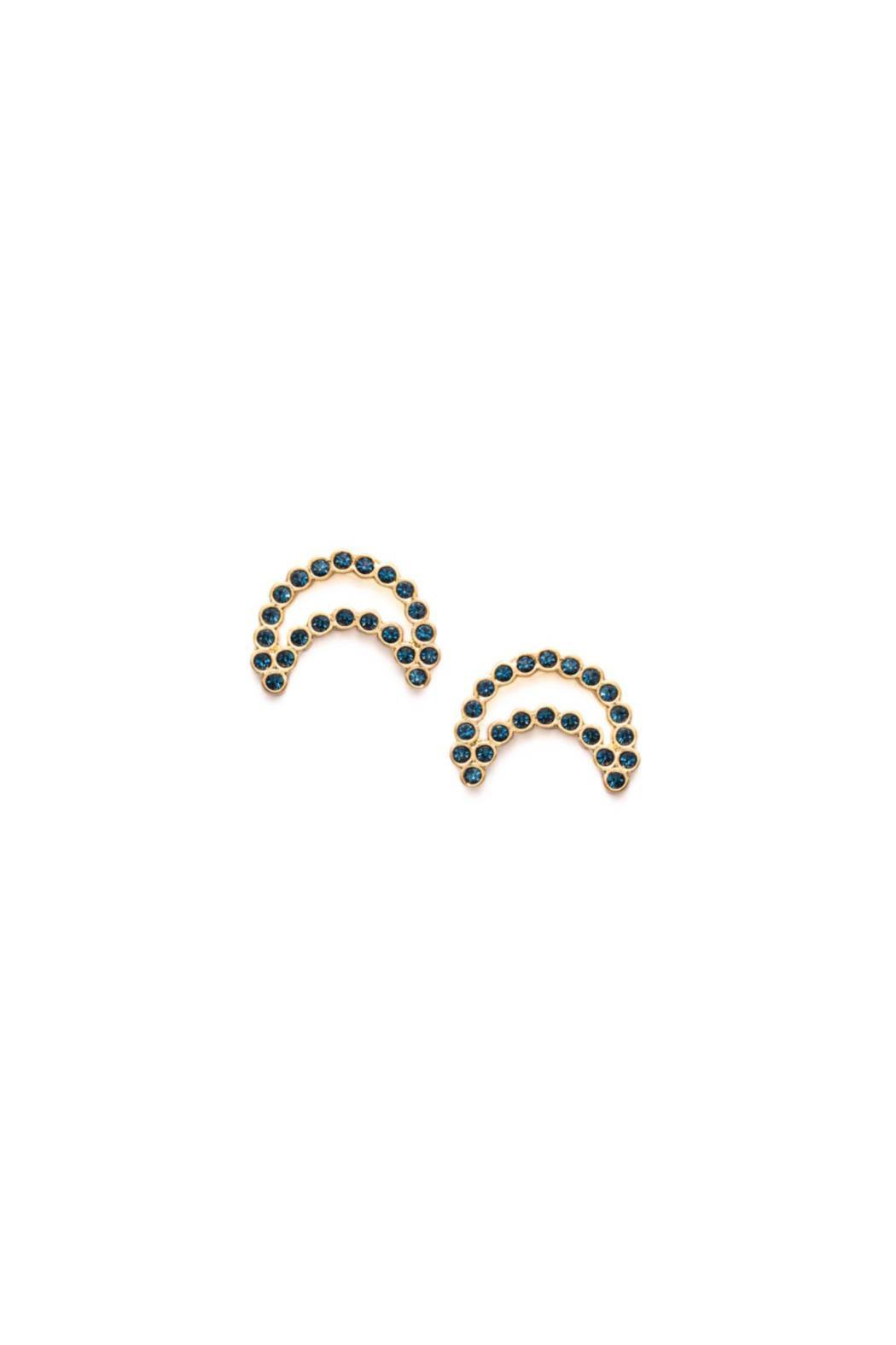 Wanderluster Freia Moon Studs - Front Cropped Image