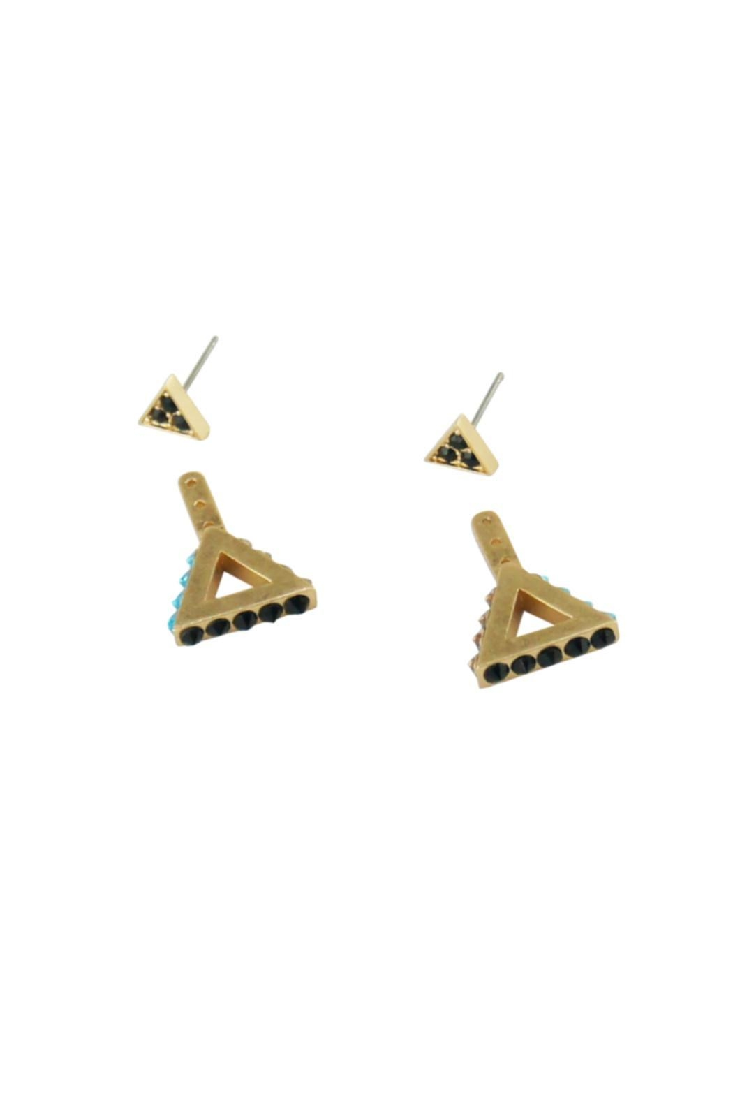 Wanderluster Heliconia Earrings - Back Cropped Image