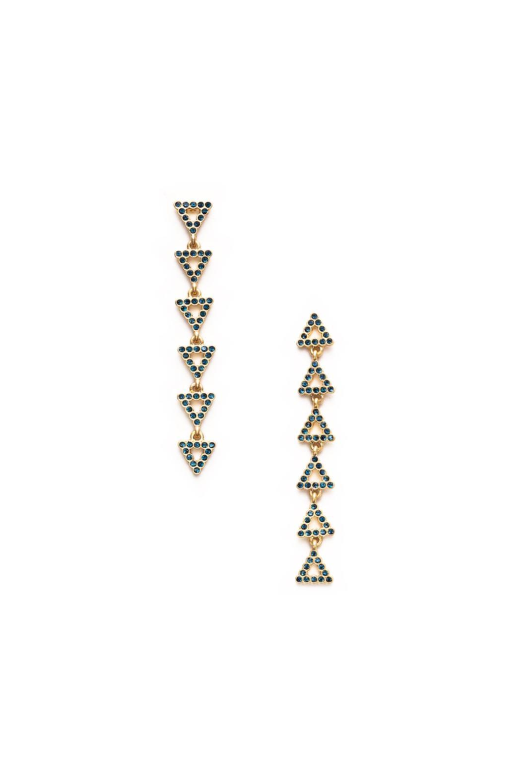 Wanderluster Selma Chain Earrings - Front Cropped Image