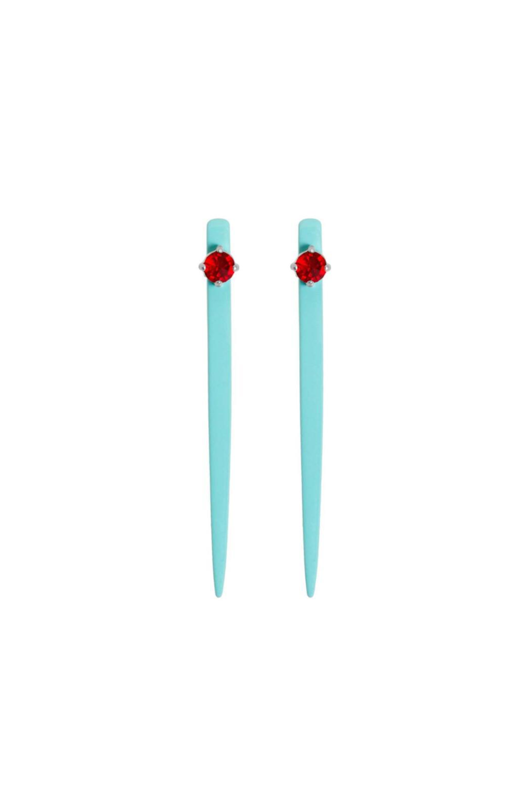 Wanderluster Snowgrass Earrings - Front Cropped Image