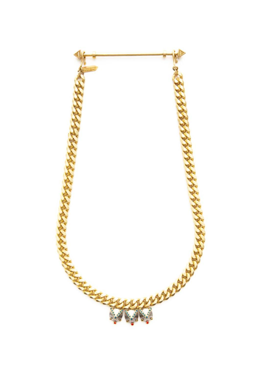 Wanderluster Valhalla Gold Necklace - Front Cropped Image