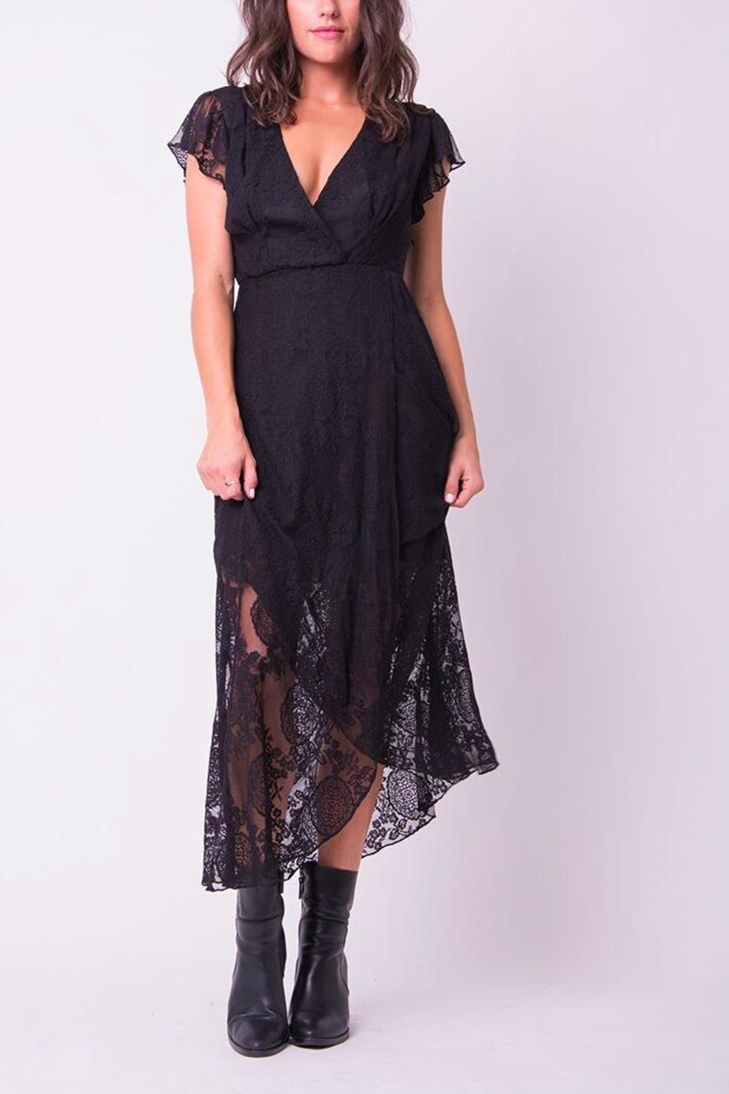 Wanderlux Black Lace Dress - Main Image
