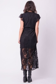 Wanderlux Black Lace Dress - Front full body