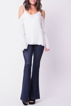 Wanderlux Cold Shoulder White Top - Product List Image