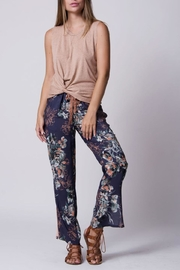 Wanderlux Navy Floral Pant - Side cropped