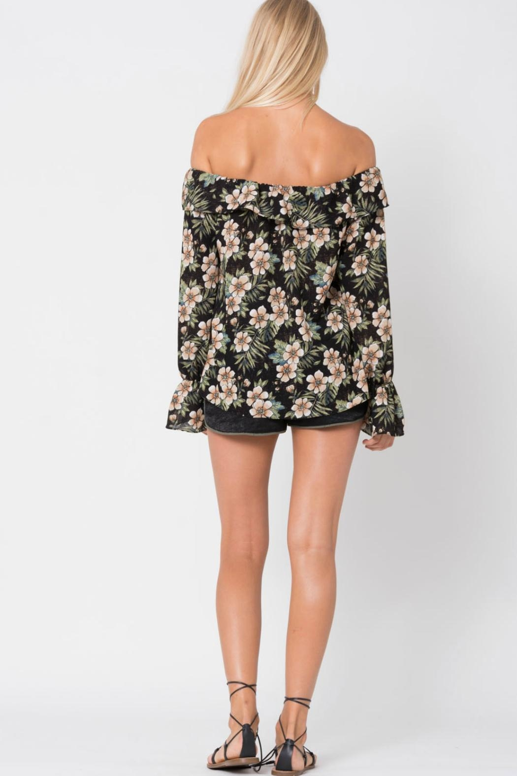 Wanderlux Off Shoulder Floral - Back Cropped Image