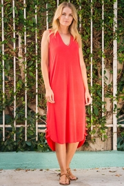 Wanderlux Red Sleeveless Dress - Front cropped
