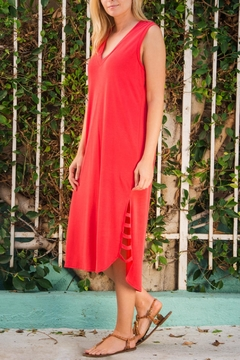Wanderlux Red Sleeveless Dress - Product List Image