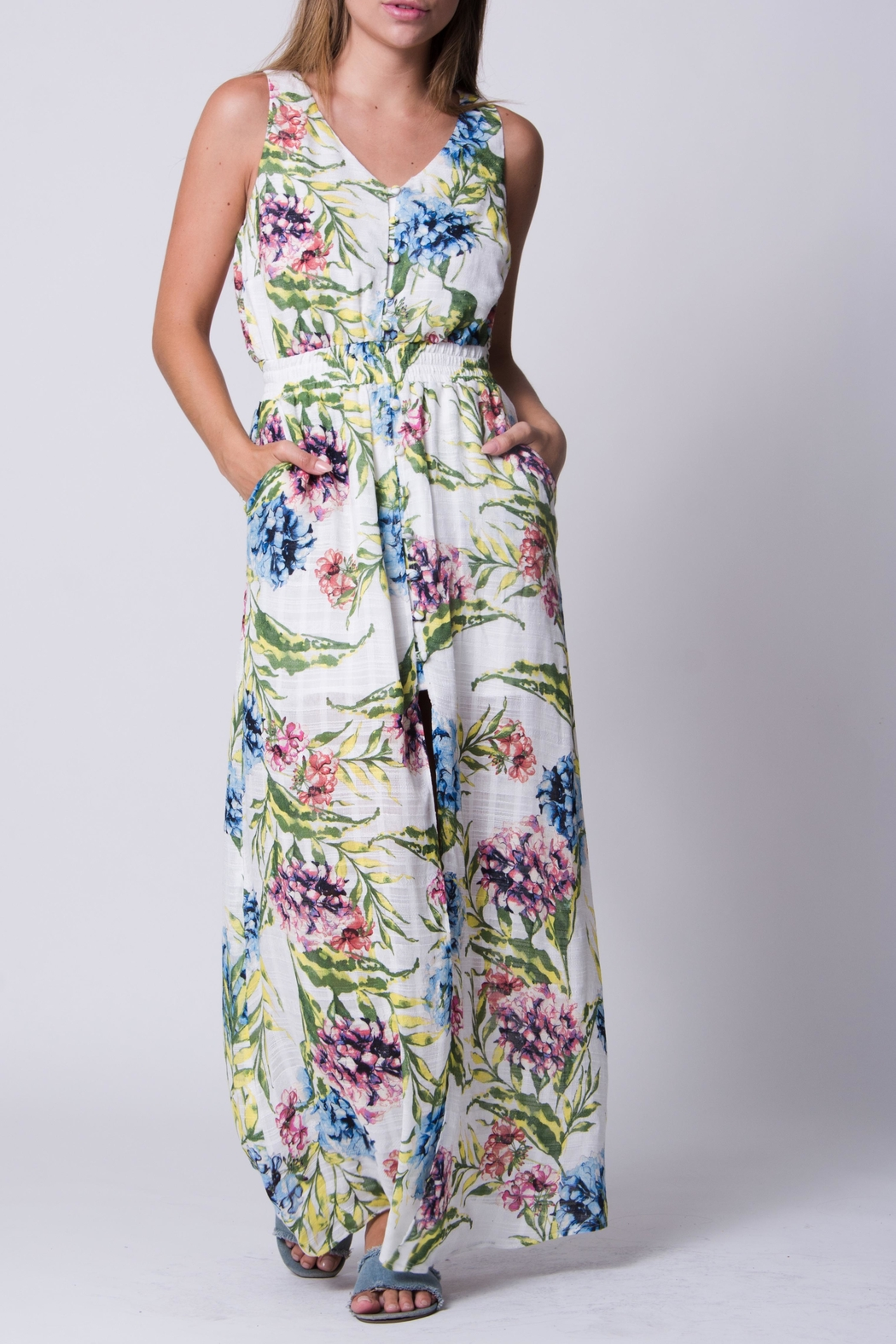 Wanderlux White Floral Maxi - Main Image
