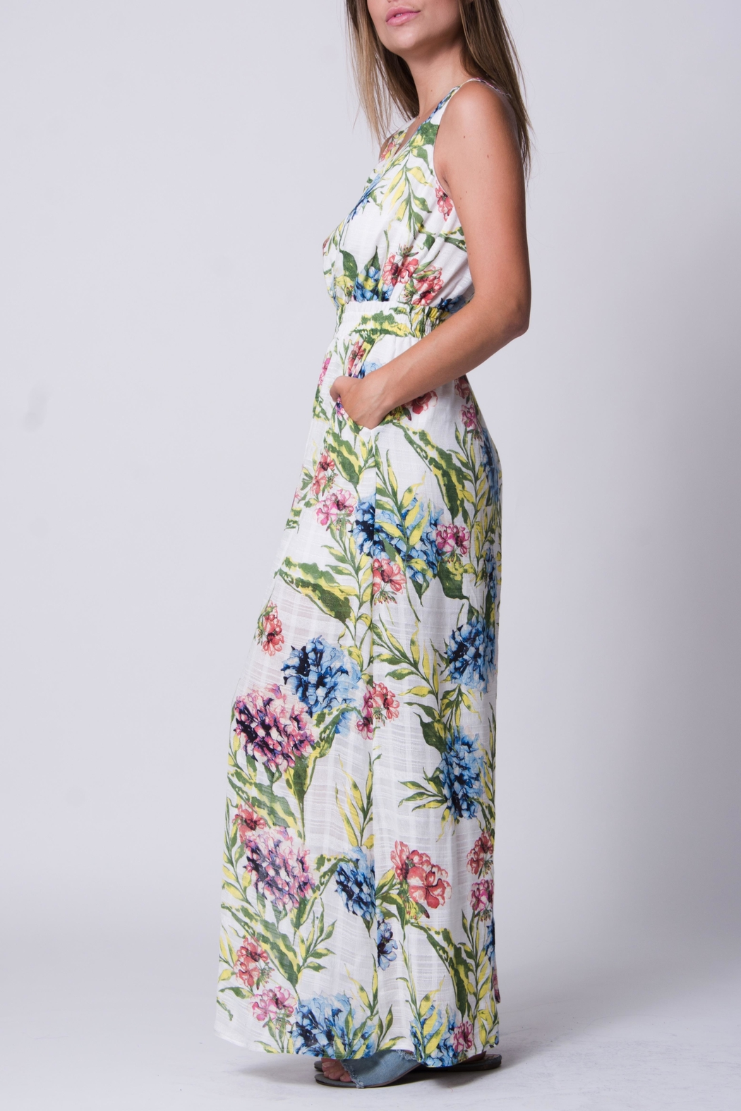 Wanderlux White Floral Maxi - Front Full Image