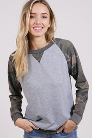 Wanna B Camouflage Terry Top - Product Mini Image