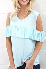 Wanna B Cold Shoulder Top - Product Mini Image