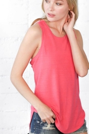 Wanna B Coral Twist Back Top - Front cropped