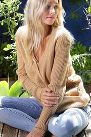 Wanna B Criss Cross Pullover Knit Sweater - Product Mini Image