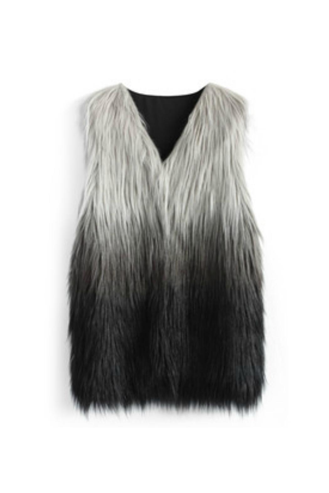 Wanna B Dip-Dyed Faux-Fur Vest - Main Image