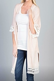 Wanna B Fall Lace Kimono - Product Mini Image