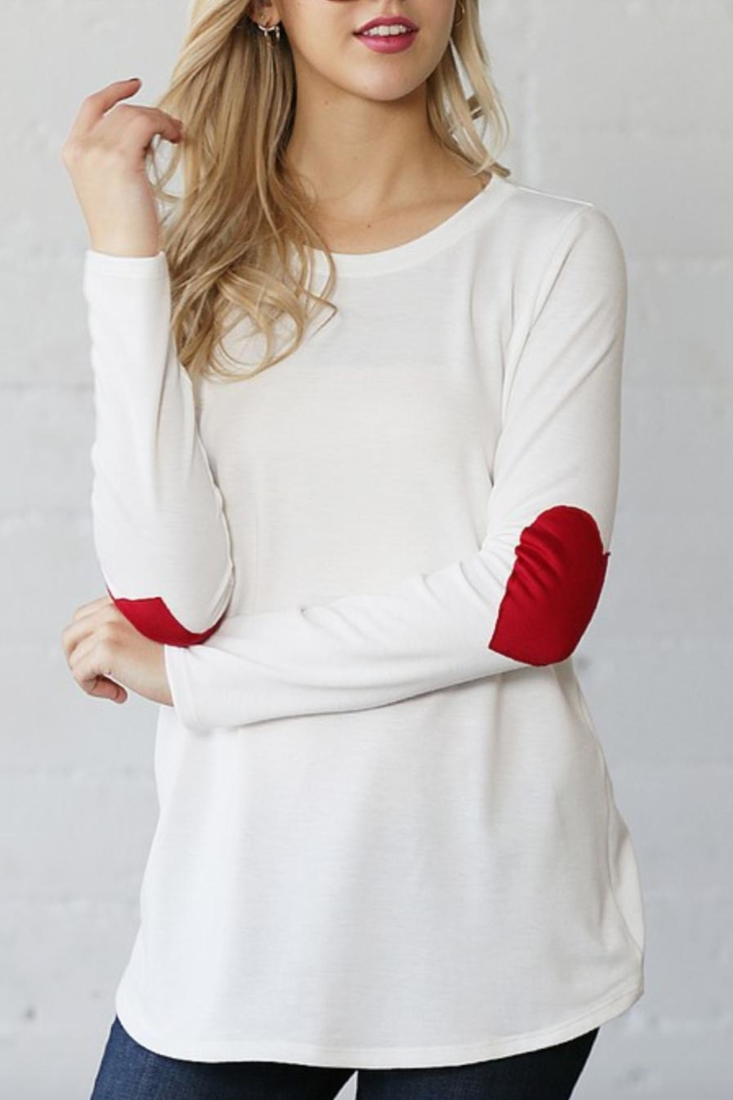 Wanna B Heart Elbow Long-Sleeve - Main Image
