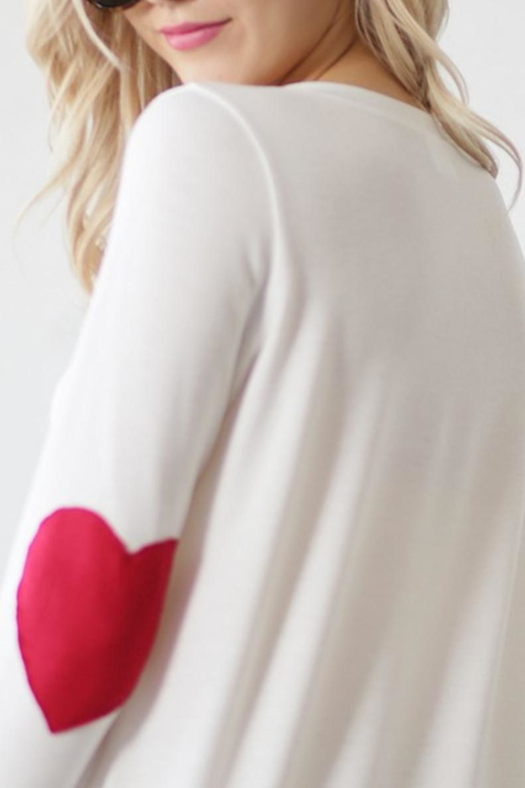 Wanna B Heart Elbow Long-Sleeve - Back Cropped Image