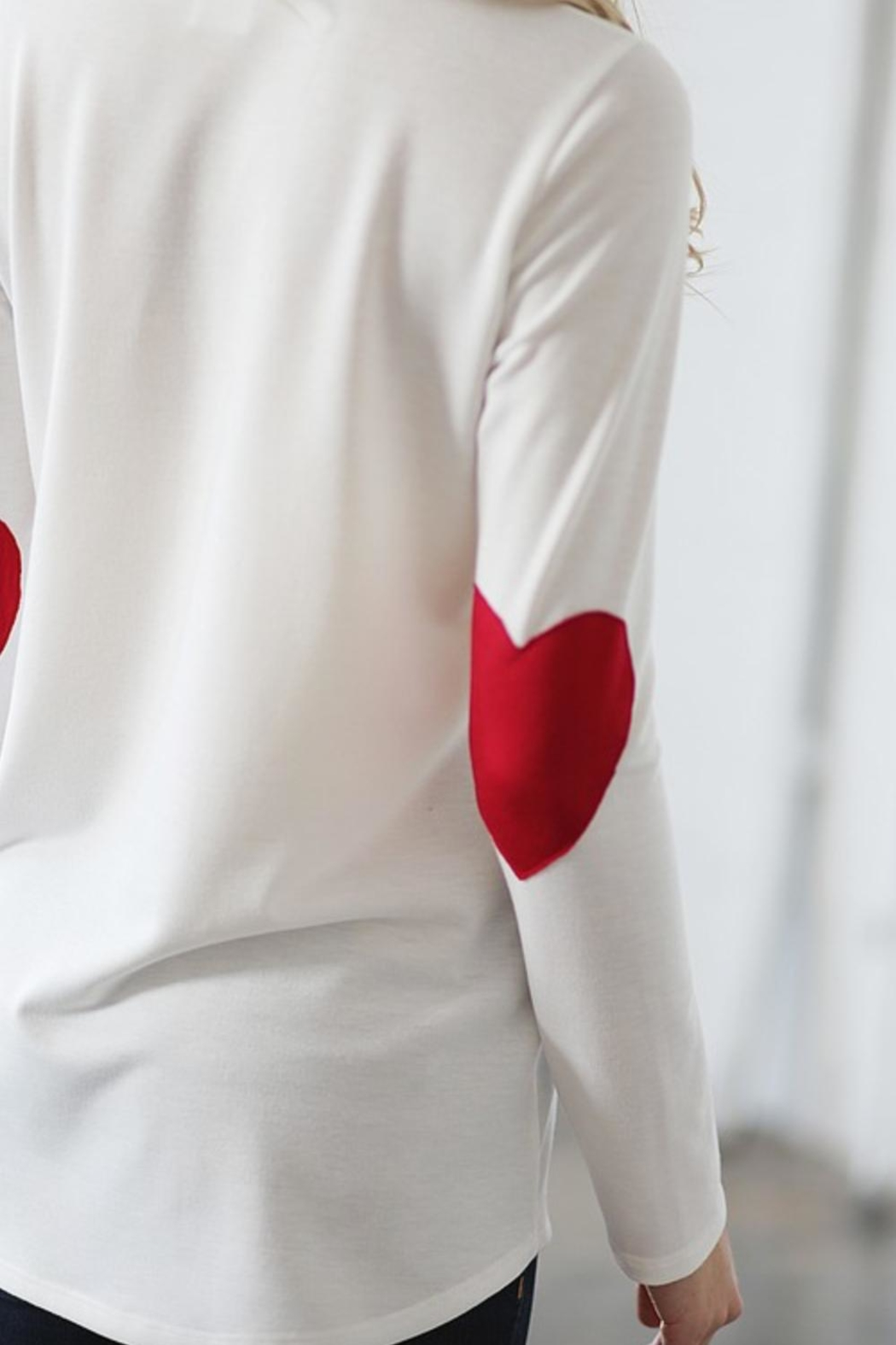 Wanna B Heart Elbow Long-Sleeve - Side Cropped Image