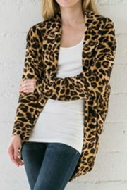 Wanna B Leopard Cardigan - Front cropped