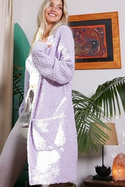Wanna B Lightweight Popcorn Long Cardigan - Product Mini Image