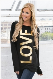 Wanna B 'Love' Graphic Sweater - Front cropped