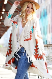 Wanna B Multi Color Boho Aztec Knit Cardigan - Product Mini Image