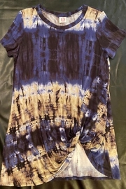 Wanna B Navy Tye-Dye Top - Product Mini Image