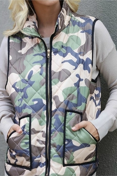 Wanna B Padded Camo Vest - Product List Image