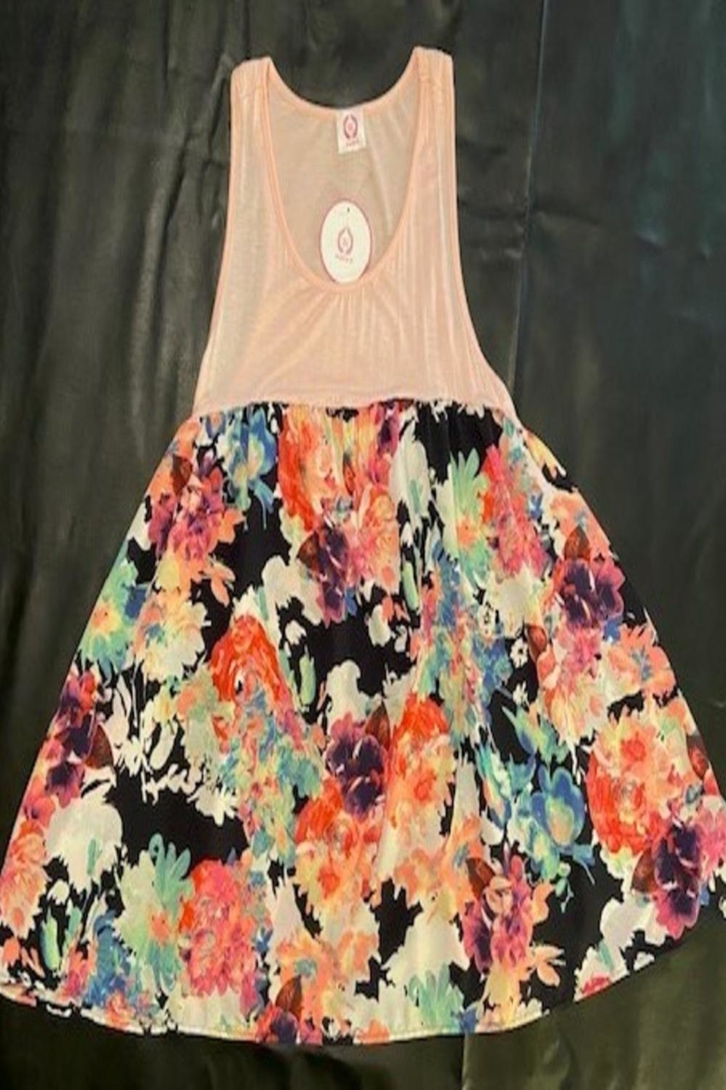 Wanna B Peach Floral Tank - Main Image