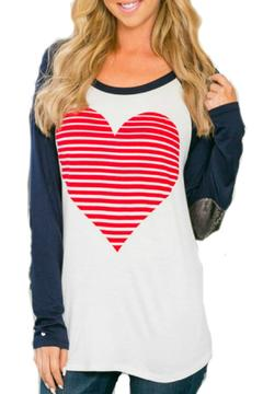 Wanna B Sequen Sleeve Heart Shirt - Alternate List Image