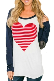 Wanna B Sequen Sleeve Heart Shirt - Product Mini Image