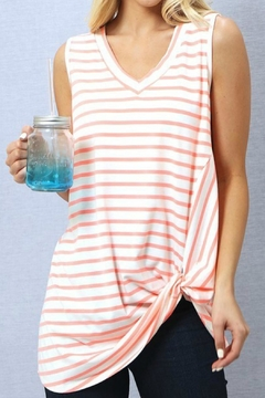 Wanna B Sleeveless Front Knot - Product List Image