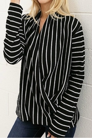 Wanna B Stripe Drape Top - Product Mini Image