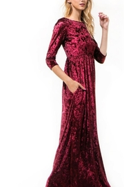 Wanna B Velvet Maxi Dress - Front full body