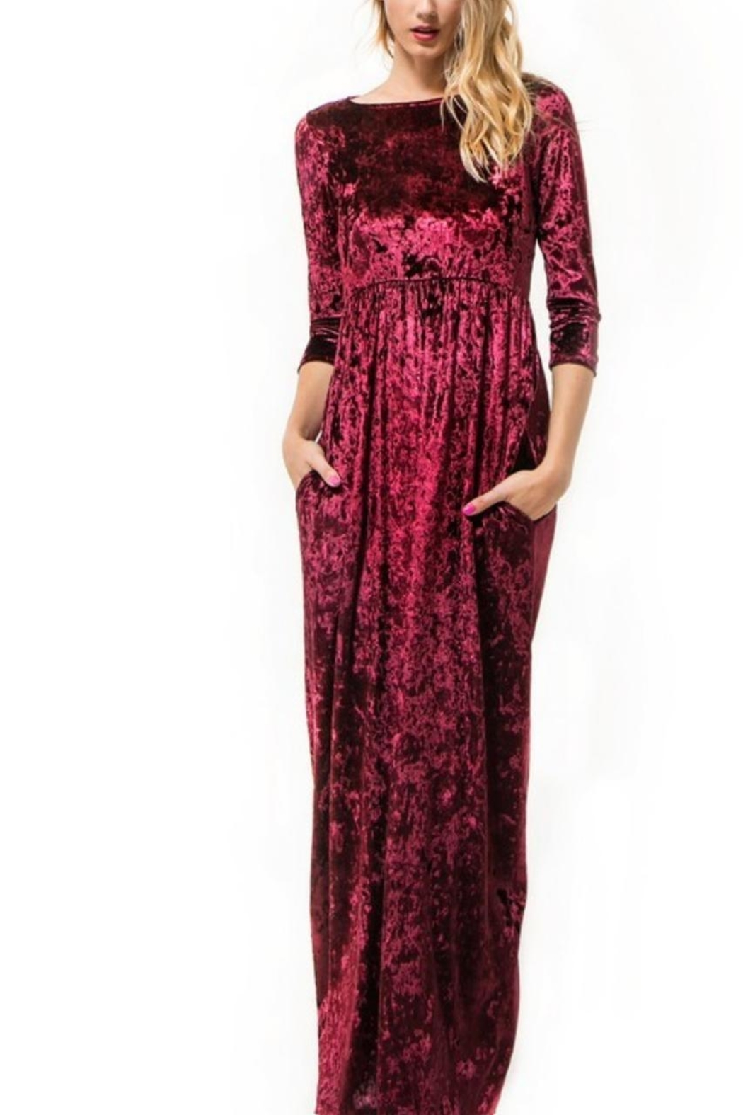 Wanna B Velvet Maxi Dress - Main Image