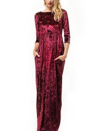 Wanna B Velvet Maxi Dress - Front cropped