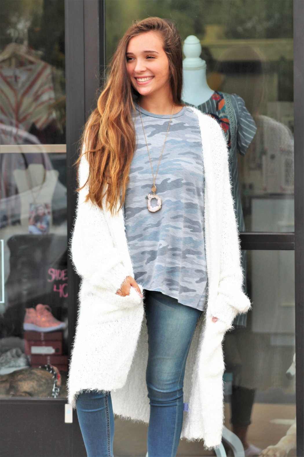 eesome Warm and Cozy Cardigan - Front Full Image