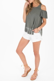 Others Follow  Warped Cold-Shoulder Top - Product Mini Image