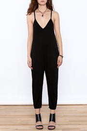 Wasabi + Mint Black Slouch Jumpsuit - Front cropped