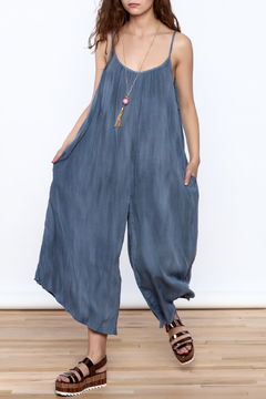 Wasabi + Mint Blue Harem Jumpsuit - Product List Image