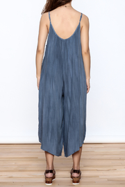 Wasabi + Mint Blue Harem Jumpsuit - Back cropped