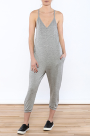 Shoptiques Product: Grey Racer Back Jumpsuit