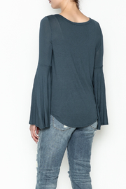 Wasabi + Mint Tie Bottom Top - Back cropped