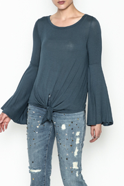 Wasabi + Mint Tie Bottom Top - Front cropped